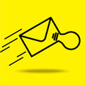 Send mail icon with idea Royalty Free Stock Photo