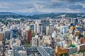 Sendai japan cityscape from above Royalty Free Stock Photography