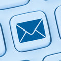 Sending E-Mail email letter internet online blue web Royalty Free Stock Photo