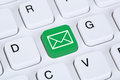 Sending E-Mail via internet on computer keyboard Royalty Free Stock Photo