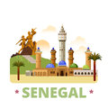 Senegal country design template Flat cartoon style Royalty Free Stock Photo