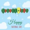 Senegal National Day Flat Patriotic Poster.