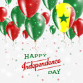 Senegal Vector Patriotic Poster. Independence Day.