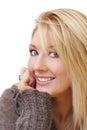 image photo : Happy smiling lady