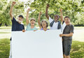 Senior Adult Friendship Togetherness Banner Placard Copy Space C Royalty Free Stock Photo
