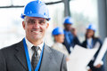 Senior architect portrait close up of in modern office Royalty Free Stock Photos