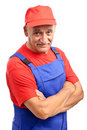 Senior auto mechanic portrait Royalty Free Stock Photos
