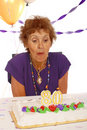 Senior Birthday Cake Royalty Free Stock Image