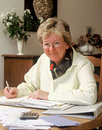 Senior bookkeeping Royalty Free Stock Photo