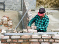 Senior bricklayer Royalty Free Stock Photo