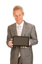 Senior business man with tablet Royalty Free Stock Photography