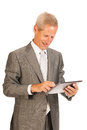 Senior business man with tablet Stock Images