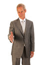 Senior business manshaking hands Stock Images