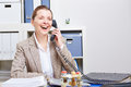 image photo : Senior business woman making phone