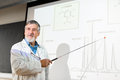 Senior chemistry professor giving a lecture in front of classroom Royalty Free Stock Photo