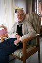 Senior Citizen Sitting Idle.
