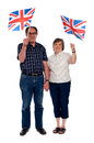 Senior citizens supporting their nation Stock Photo