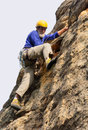 Senior climber action shot gifberg mountains near wanrhynsdorp western cape south africa Royalty Free Stock Photography
