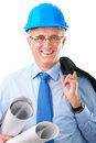Senior construction worker Stock Images