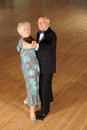 Senior couple ballroom dancing Royalty Free Stock Photos