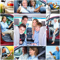 Senior couple in the car Stock Photography