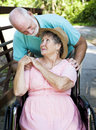 Senior Couple Caretaker Stock Photos
