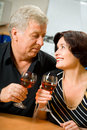 Senior couple celebrating Stock Photography