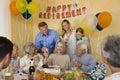 Senior Couple Celebrating Retirement Party Royalty Free Stock Photography