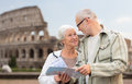 Senior couple on city street Royalty Free Stock Photo
