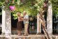 Senior couple dancing latin american dance for fun Royalty Free Stock Photo