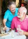 Senior Couple Dining Out Royalty Free Stock Image