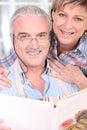Senior couple embracing Stock Photos