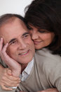 Senior couple embracing each other Royalty Free Stock Image