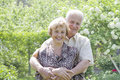 Senior couple enjoying in park Royalty Free Stock Photo