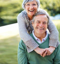 Senior couple enjoying in park - Outdoor Royalty Free Stock Photography