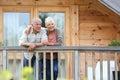 Senior couple enjoying their relaxing holidays