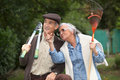 Senior couple gardening together as a hobby Royalty Free Stock Photo
