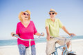 Senior couple going for a bike ride Royalty Free Stock Photo