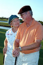 Senior couple golf Stock Photography