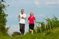 Senior couple jogging for sport Stock Image