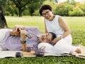 Senior Couple Leisure Outside Concept Royalty Free Stock Photo