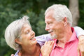 Senior couple in love Royalty Free Stock Photos