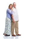 Senior couple in love happy isolated on white background Royalty Free Stock Image