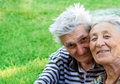 Senior couple - old man and woman outdoor