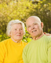 Senior couple outdoors Stock Image