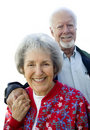 Senior Couple Smiling Stock Image