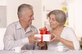 Senior couple spending time together portrait of a happy Stock Photos