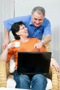 Senior couple surfing Internet Royalty Free Stock Photos