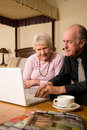 Senior couple using laptop Royalty Free Stock Image