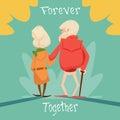 Senior Couple Walking Forever ...